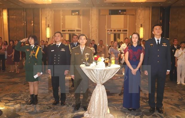 Celebran en Singapur LXXV Aniversario de fundacion del Ejercito de Vietnam hinh anh 1