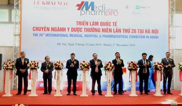 Inauguran en Hanoi Exposicion Internacional de Medicina y Farmacia hinh anh 1