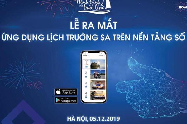 Publican aplicacion movil de calendario con imagenes de archipielago vietnamita Truong Sa hinh anh 1