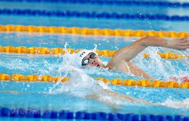 Rompe nadador vietnamita record en Juegos Deportivos del Sudeste Asiatico hinh anh 1