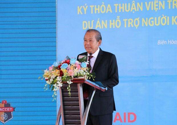 Inician labor de remediacion de dioxinas en aeropuerto vietnamita hinh anh 1