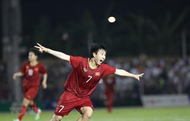 Avanza Vietnam a la final de futbol femenino de SEA Games 30 hinh anh 1