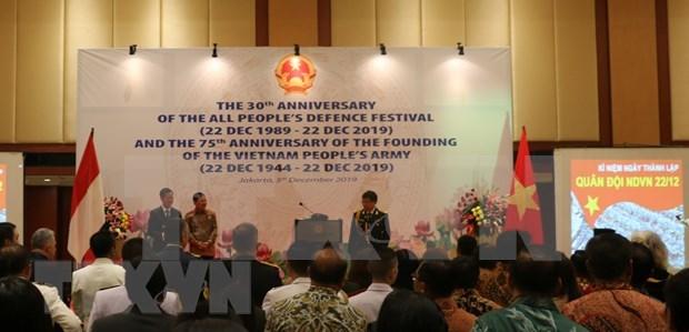 Amplia participacion en conmemoracion de fundacion del Ejercito Popular de Vietnam en Indonesia hinh anh 1