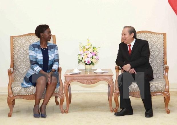 Se compromete Vietnam a seguir cooperando con los paises francofonos hinh anh 1