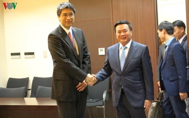 Delegacion del Partido Comunista de Vietnam visita Japon hinh anh 1