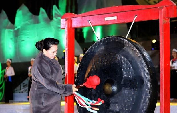 Presidenta del Parlamento vietnamita asiste a inauguracion de semana cultural en provincia nortena hinh anh 1