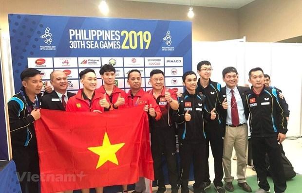 Aumenta Vietnam cosecha dorada en septima jornada de competencia de SEA Games 30 hinh anh 1