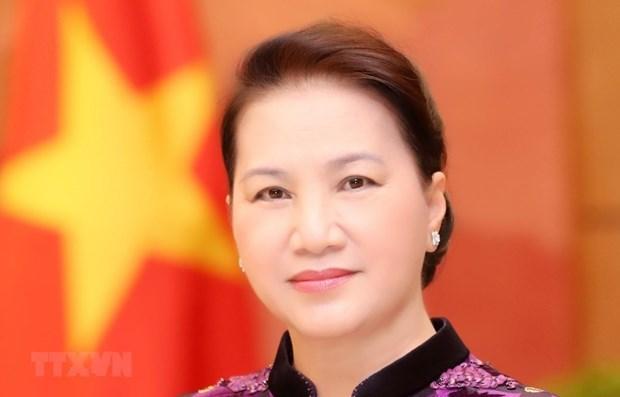 Presidenta del Parlamento de Vietnam parte de Hanoi para iniciar visita oficial a Rusia y Beralus hinh anh 1