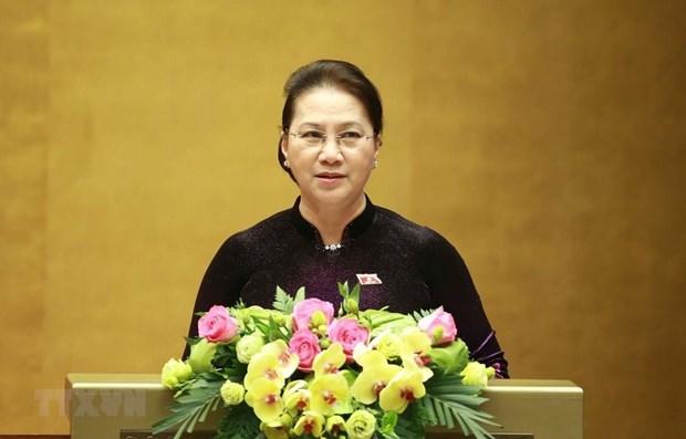 Presidenta del Parlamento de Vietnam y autoridades de Belarus debatiran pautas de cooperacion hinh anh 1