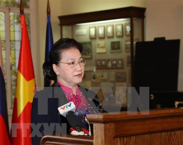 Visita presidenta del Parlamento de Vietnam universidad donde estudio Lenin hinh anh 1