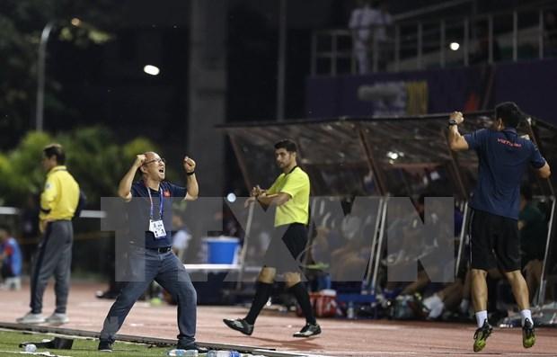 SEA Games 30: Park Hang-seo espera otra victoria de Vietnam ante Indonesia en partido final hinh anh 1