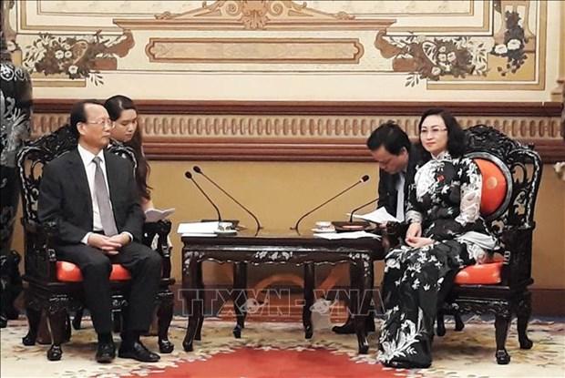 Proyectan Ciudad Ho Chi Minh y la localidad china de Chongqing ampliar vinculos de cooperacion hinh anh 1