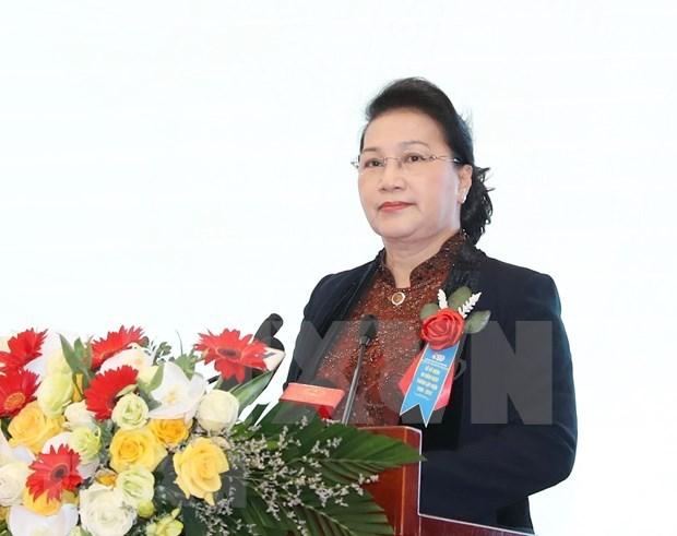 Apunta visita de presidenta de Asamblea Nacional de Vietnam a fortalecer lazos con Belarus hinh anh 1
