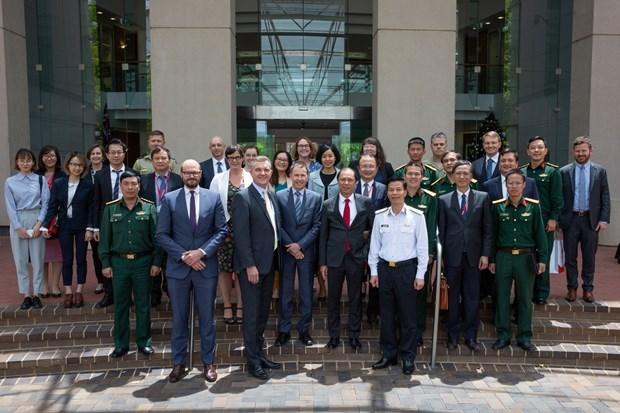 Vietnam y Australia celebran dialogo estrategico de diplomacia y defensa hinh anh 1