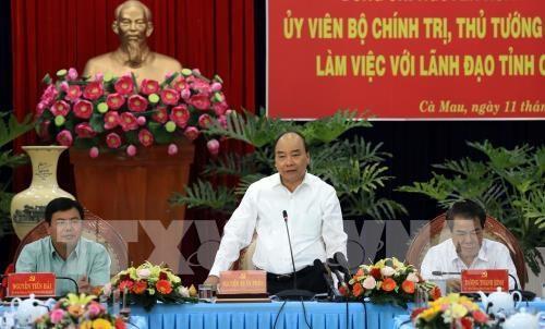 Destaca premier vietnamita alentadores logros de la provincia de Ca Mau hinh anh 1
