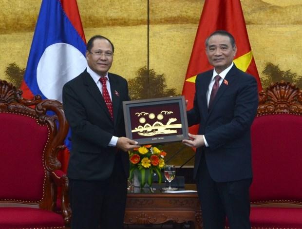 Delegacion de la Asamblea Nacional de Laos visita ciudad vietnamita de Da Nang hinh anh 1