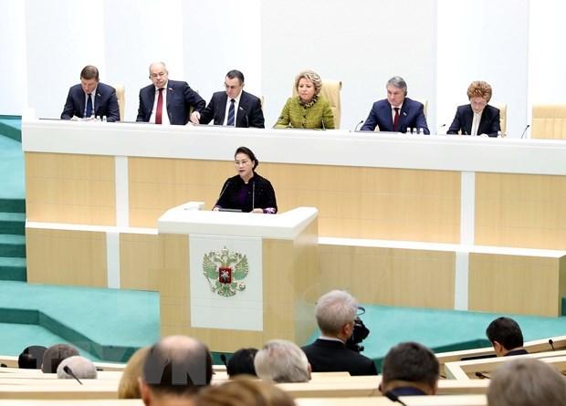 Presidenta de Vietnam asiste a sesion plenaria del Consejo de Federacion de Rusia hinh anh 1