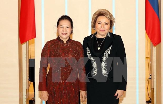 Debaten medidas para fortalecer los lazos parlamentarios entre Vietnam y Rusia hinh anh 1