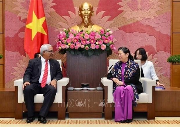 Reafirma subtitular del Parlamento vietnamita solidaridad con Cuba hinh anh 1