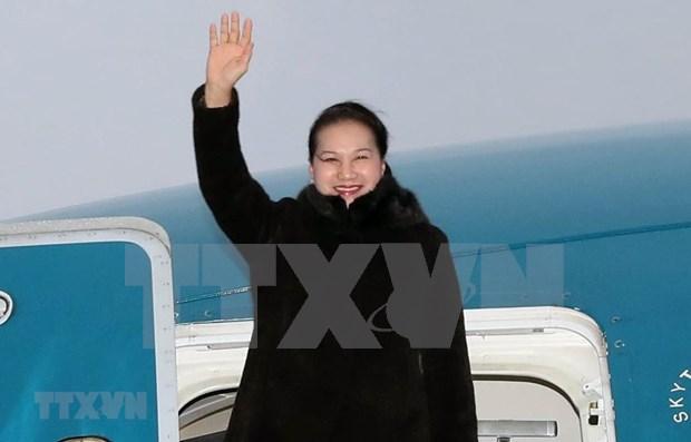 Inicia presidenta de Asamblea Nacional de Vietnam visita oficial a Belarus hinh anh 1