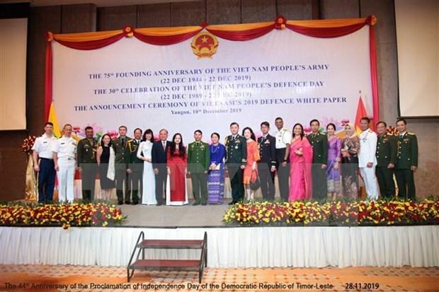 Celebran en Myanmar, Sudafrica y Republica Checa la fundacion del Ejercito Popular de Vietnam hinh anh 1