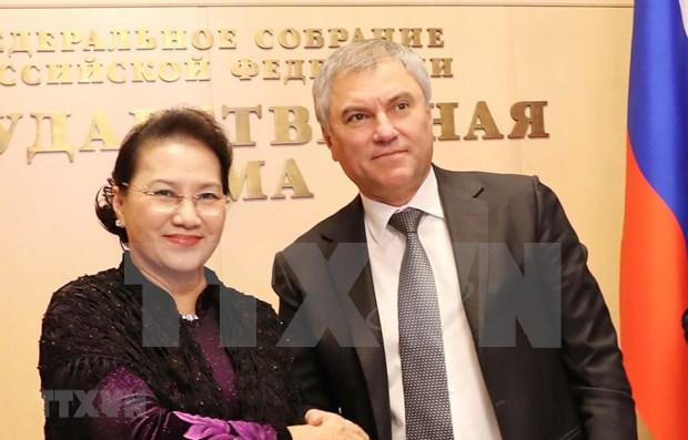 Patentiza maxima legisladora vietnamita importancia de la asociacion estrategica integral con Rusia hinh anh 1