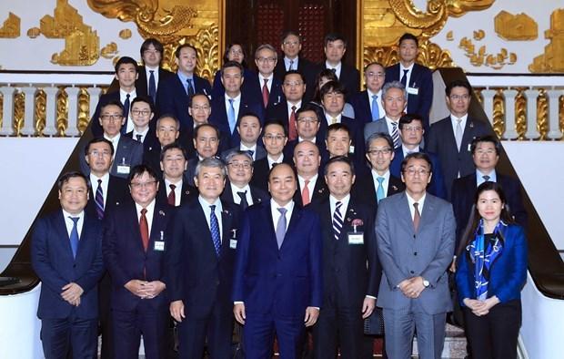 Destaca premier Xuan Phuc aportes del Comite Economico Japon-Vietnam hinh anh 1