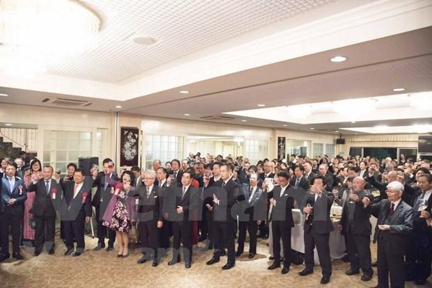 Celebra Embajada vietnamita en Tokio banquete de agradecimientos a funcionarios japoneses hinh anh 1