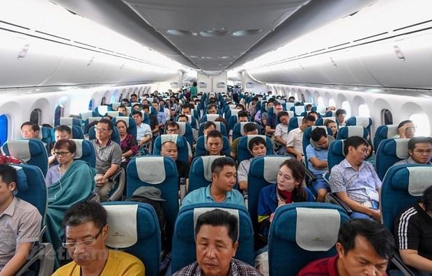 Transportan aerolineas vietnamitas a casi 55 millones de pasajeros este ano hinh anh 1