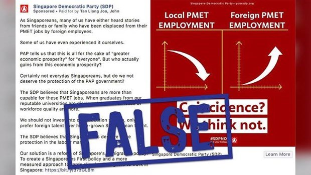 Fortalece Singapur lucha contra informaciones falsas hinh anh 1