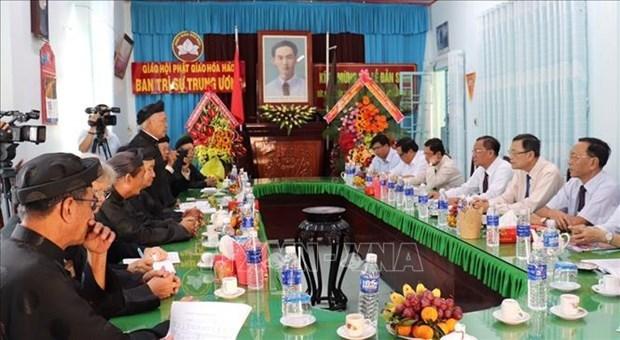 Celebran centesimo aniversario del natalicio del fundador de secta budista vietnamita de Hoa Hao hinh anh 1