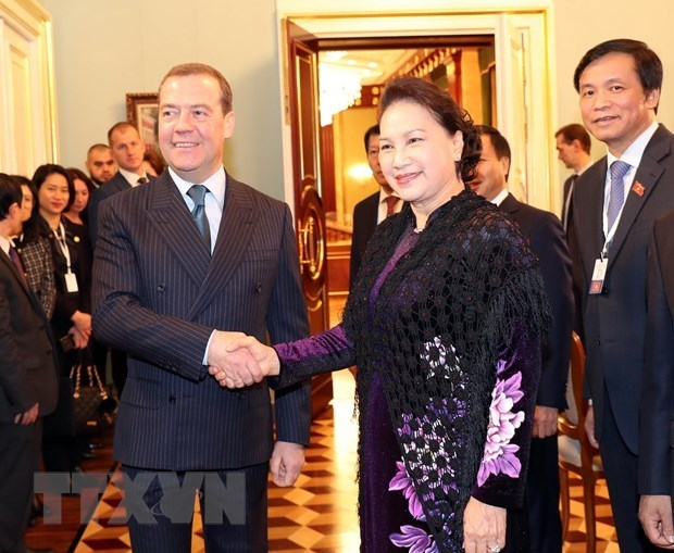 Destacan resultados de la gira de presidenta del Parlamento vietnamita a Rusia y Belarus hinh anh 1