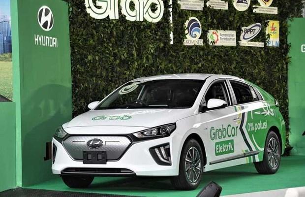 Emprenderan Hyundai y Grab servicio de transporte en vehiculos electricos en Indonesia hinh anh 1