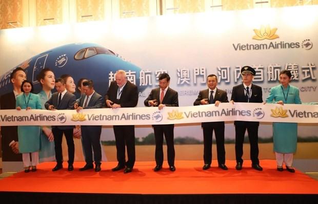 Abre Vietnam Airlines nueva ruta directa entre Hanoi y Macao hinh anh 1