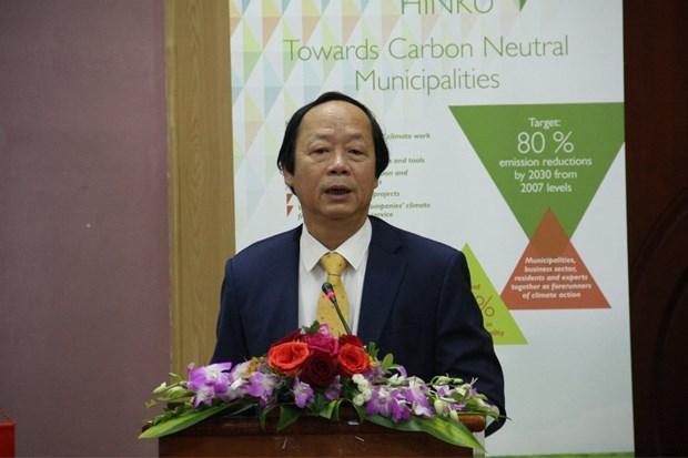 Cooperan Vietnam y Finlandia en construccion de municipios neutros en carbono hinh anh 1