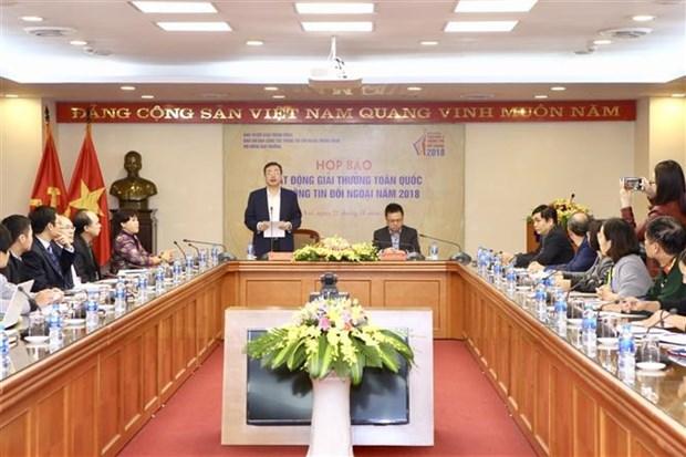 Lanzan convocatoria del Premio Nacional de Informacion para el Exterior 2019 de Vietnam hinh anh 1