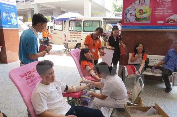 Movilizan 56 mil bolsas de sangre para proporcionar en Ano Nuevo Lunar hinh anh 1