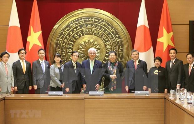 Organos legislativos de Vietnam y Japon intensifican lazos bilaterales hinh anh 1