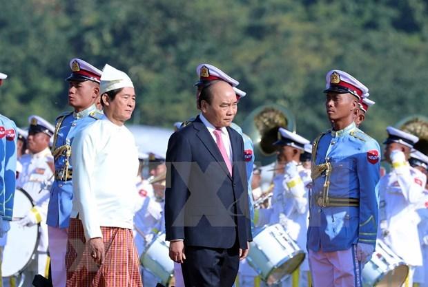 Vietnam y Myanmar ratifican empeno en profundizar asociacion de cooperacion integral hinh anh 1