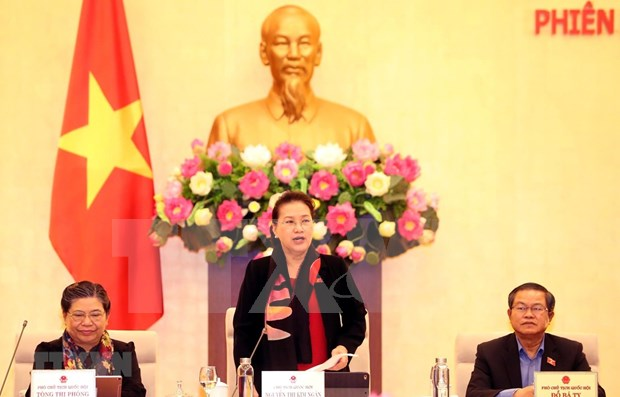 Concluyen reunion 40 del Comite Permanente de Asamblea Nacional de Vietnam hinh anh 1
