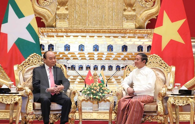 Concluye primer ministro de Vietnam visita oficial a Myanmar hinh anh 1