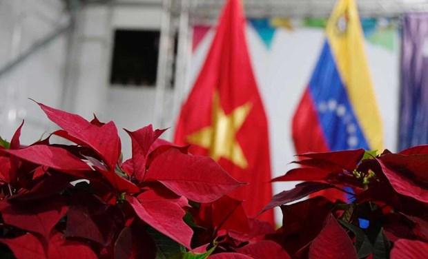 Recuerdan vietnamitas y venezolanos establecimiento de relaciones con homenaje a Ho Chi Minh hinh anh 1
