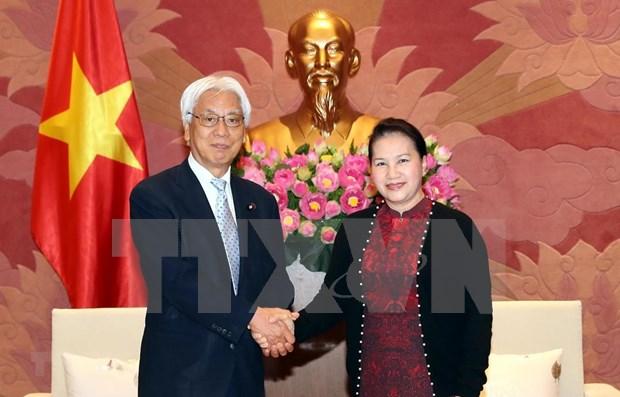 Presidenta de Asamblea Nacional de Vietnam aboga por mayores nexos con Japon hinh anh 1