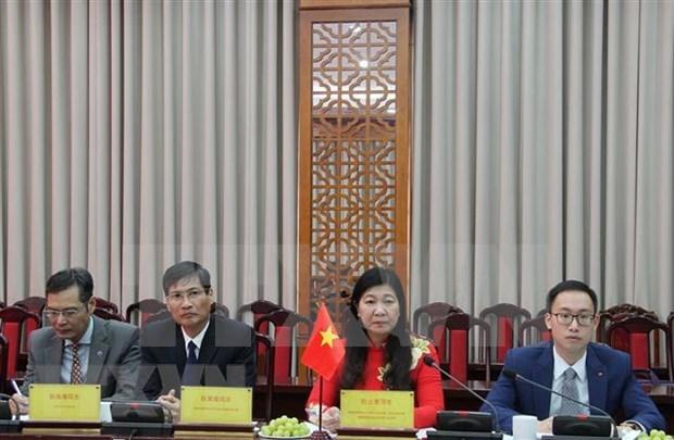 Promueven cooperacion entre organizaciones de masas de Hanoi y Tibet hinh anh 1