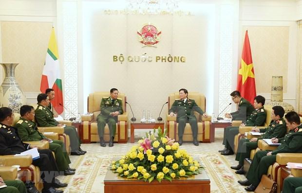 Visita Vietnam jefe de las fuerzas armadas de Myanmar hinh anh 1
