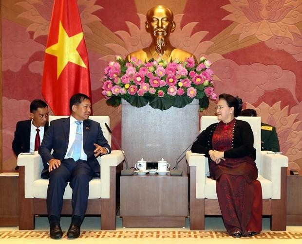 Recibe titular parlamentaria de Vietnam al Comandante de Myanmar hinh anh 1