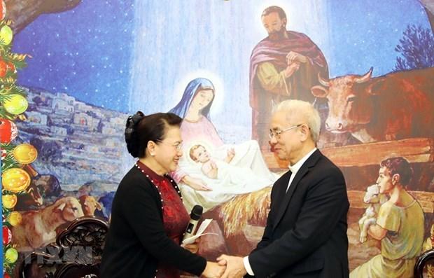 Destacan aportes de catolicos vietnamitas al desarrollo nacional en ocasion de Navidad 2019 hinh anh 1