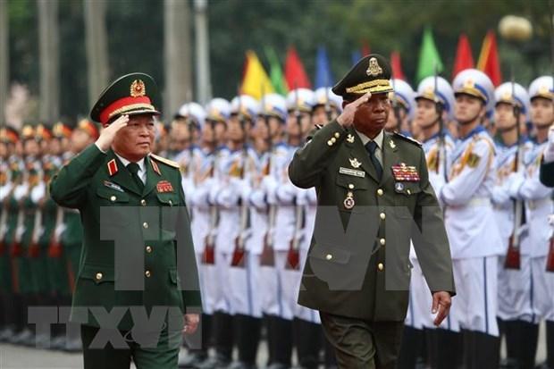 Acuerdan Vietnam y Camboya fortalecer nexos en defensa hinh anh 1