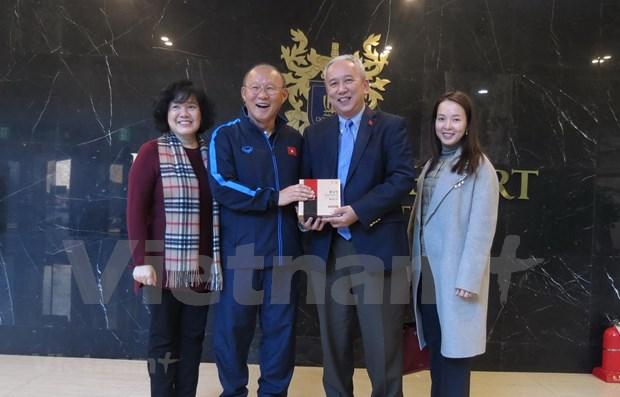 Diplomaticos en Corea del Sur felicitan al equipo sub23 de Vietnam hinh anh 1