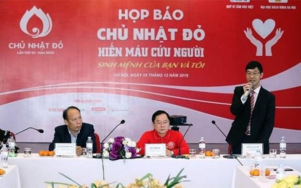 Realizan programa de donacion de sangre en 40 ciudades y provincias de Vietnam hinh anh 1